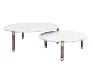 Bàn sofa mặt đá marble trắng 0005