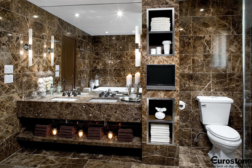 mau da marble tay ban nha lavabo