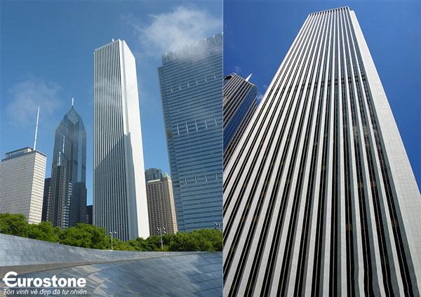 Tòa nhà AMOCO – bài học lớn trong kĩ thuật ốp đá mặt tiền