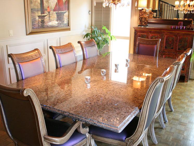 mặt bàn Đá Granite Tự Nhiên Brown Pearl