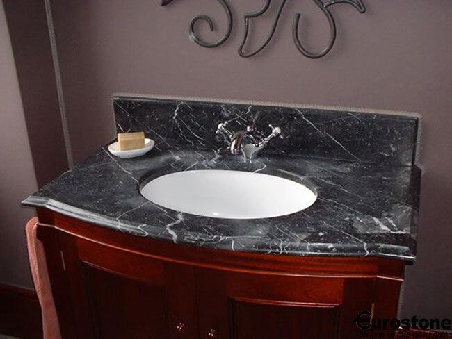 Bàn lavabo đá Marble Negro Marquina