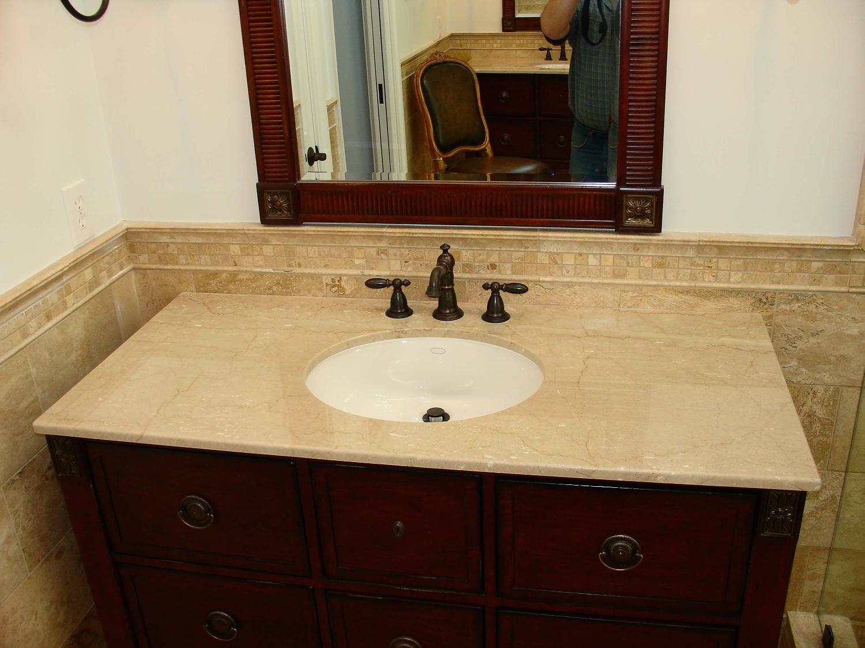 bàn lavabo Đá Marble tự nhiên Botticino Classical