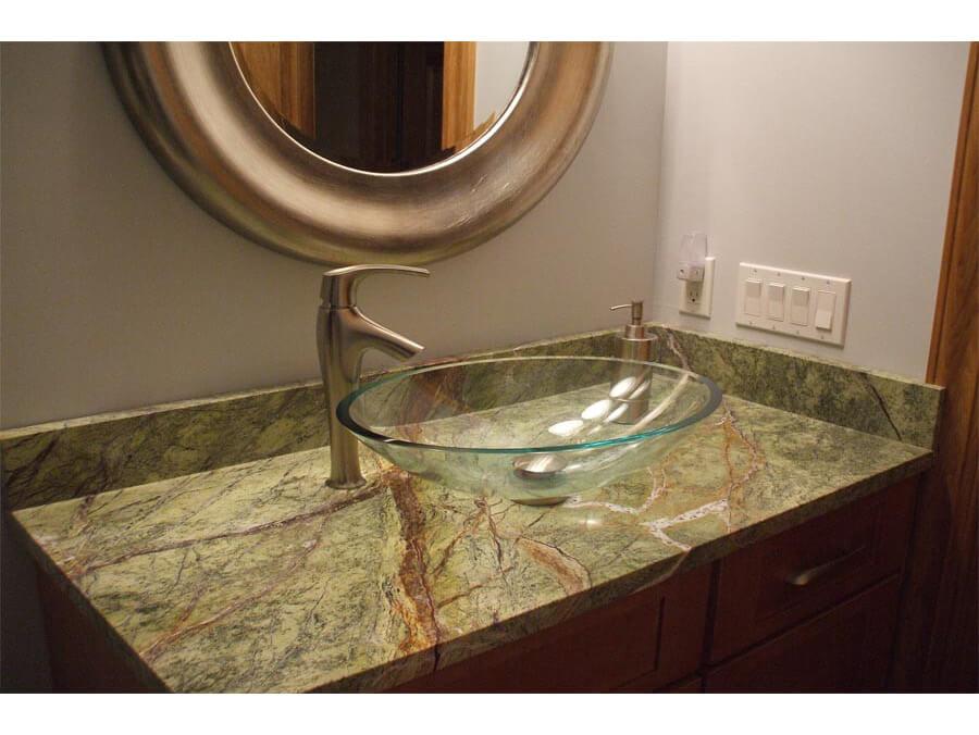 Đá Marble Rainforest Green ốp nhà vệ sinh