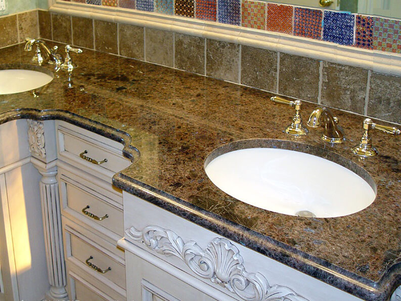 bàn lavabo Đá Granite Tự Nhiên Brown Pearl