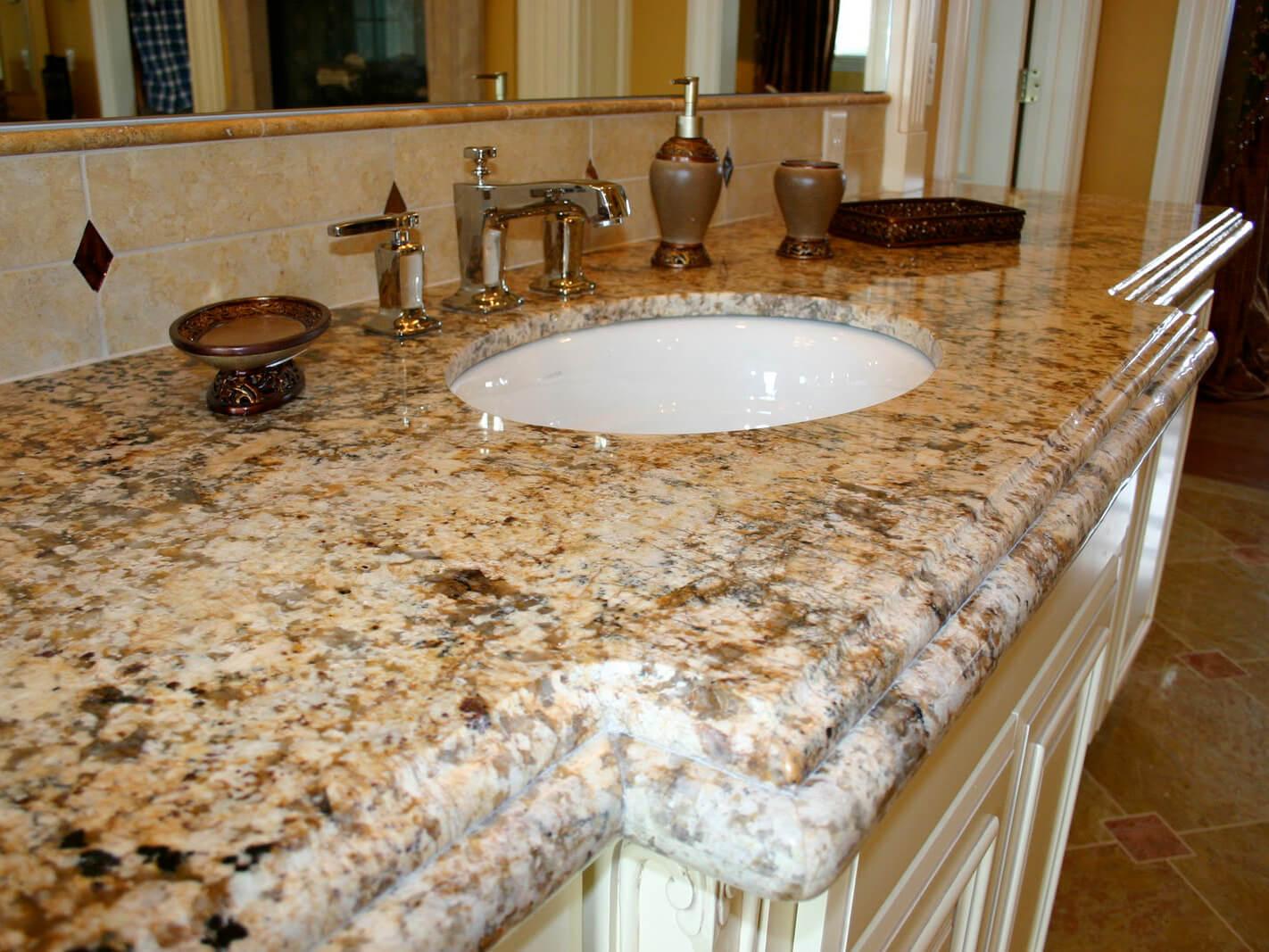 bàn lavabo Đá Granite Golden Forest Brazil