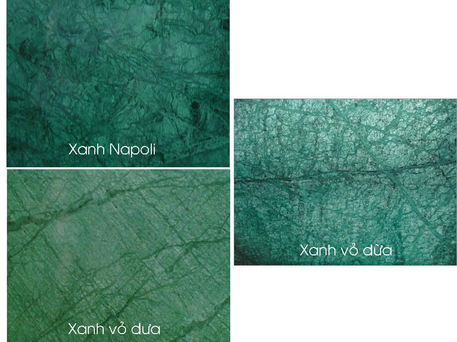 mặt hoàn thiện Đá Marble tự nhiên India Green (Xanh Napoli)