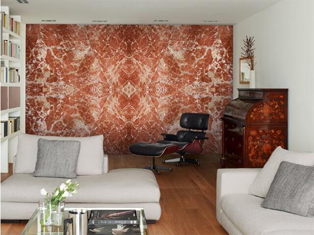 Đá Marble (Cẩm Thạch) Rojo Levantina ốp tường