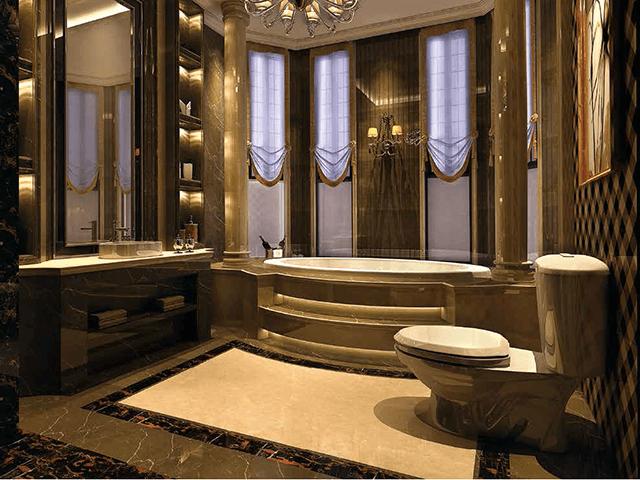 Đá Marble (Cẩm Thạch) Burdur beige ốp phòng tắm