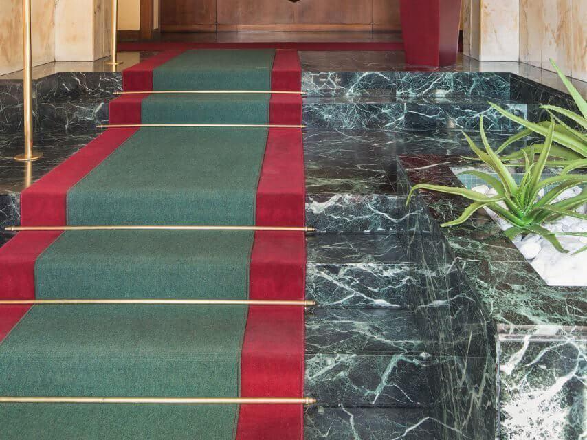 Đá Marble tự nhiên India Green (Xanh Napoli) ốp bậc tam cấp
