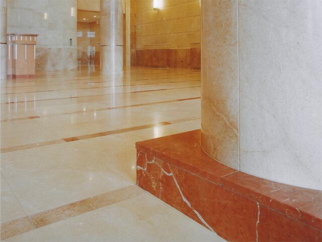 Đá Marble (Cẩm Thạch) Rojo Levantina ốp cột