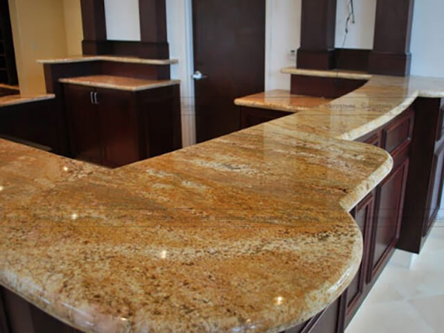 Đá Granite Imperial Gold India ốp bếp