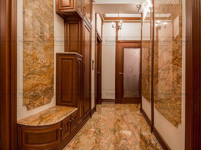 Đá Granite Imperial Gold India ốp phòng tắm