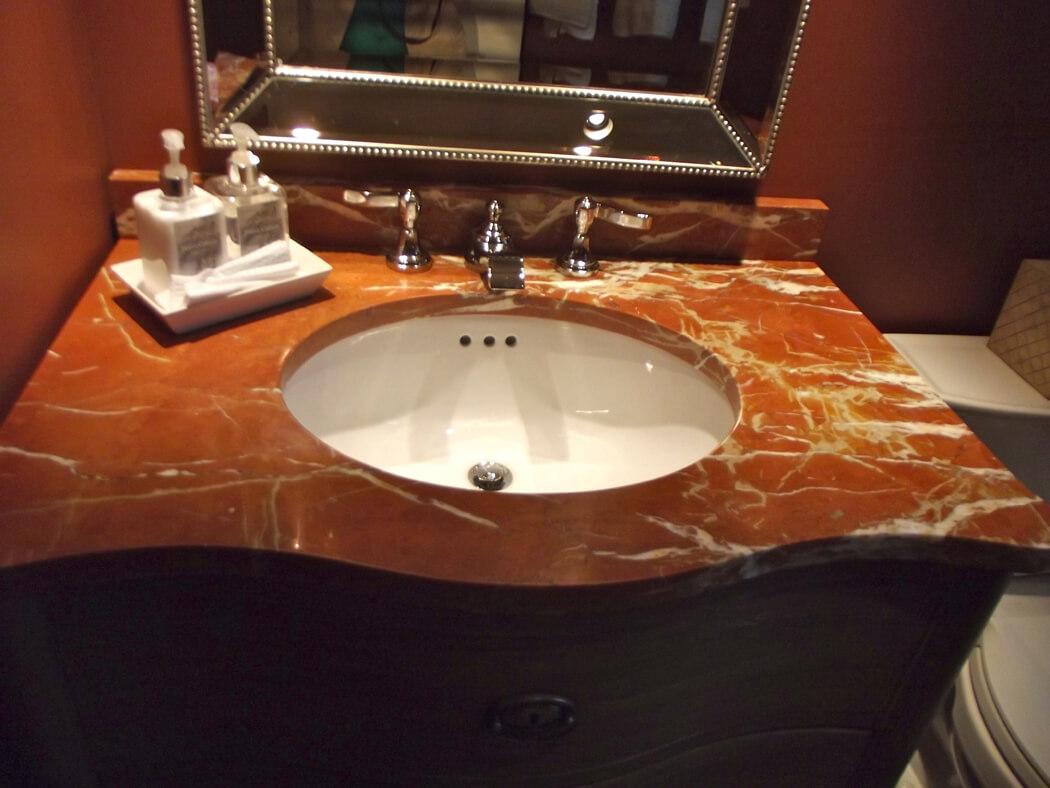 bàn lavabo Đá Marble (Cẩm Thạch) Rojo Alicante