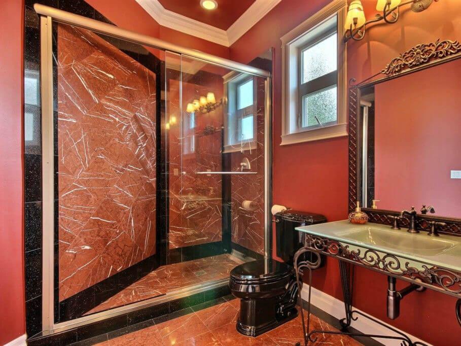 Đá Marble (Cẩm Thạch) Rojo Alicante ốp phòng tắm