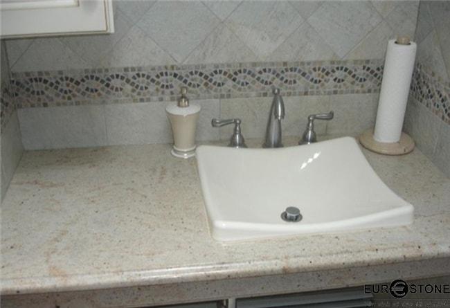 Đá Granite Imperial White lavabo min