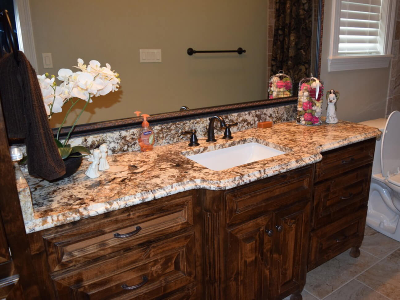 bàn lavabo Đá Granite Tự nhiên Normandy