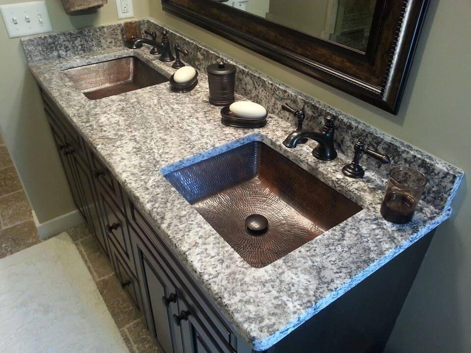 bàn lavabo Đá Granite Bianco Torrichino