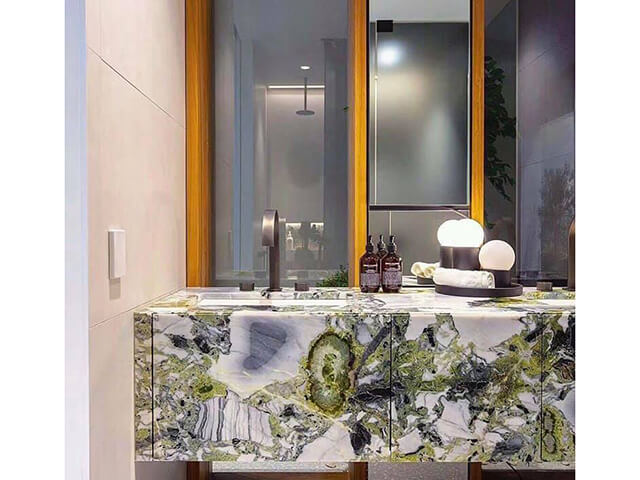 bàn lavabo Đá Marble (Cẩm Thạch) Ice Green