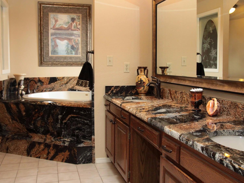 bàn lavabo Đá Granite Magma Gold