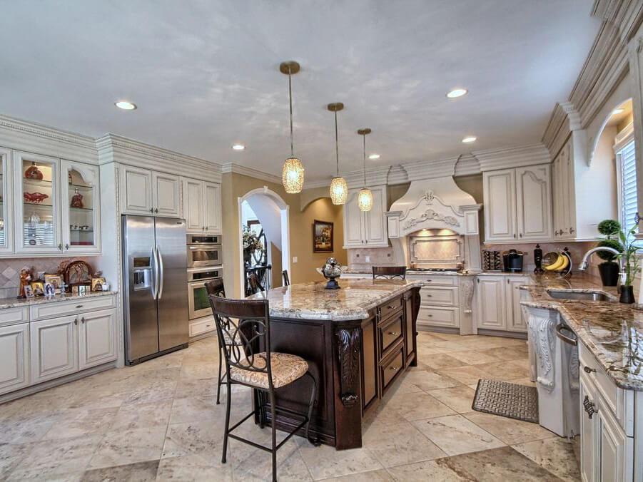 Đá Granite Splendor Cream ốp bếp
