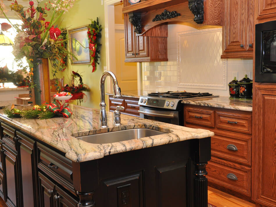Đá Tự Nhiên Granite Prada Gold ốp bếp