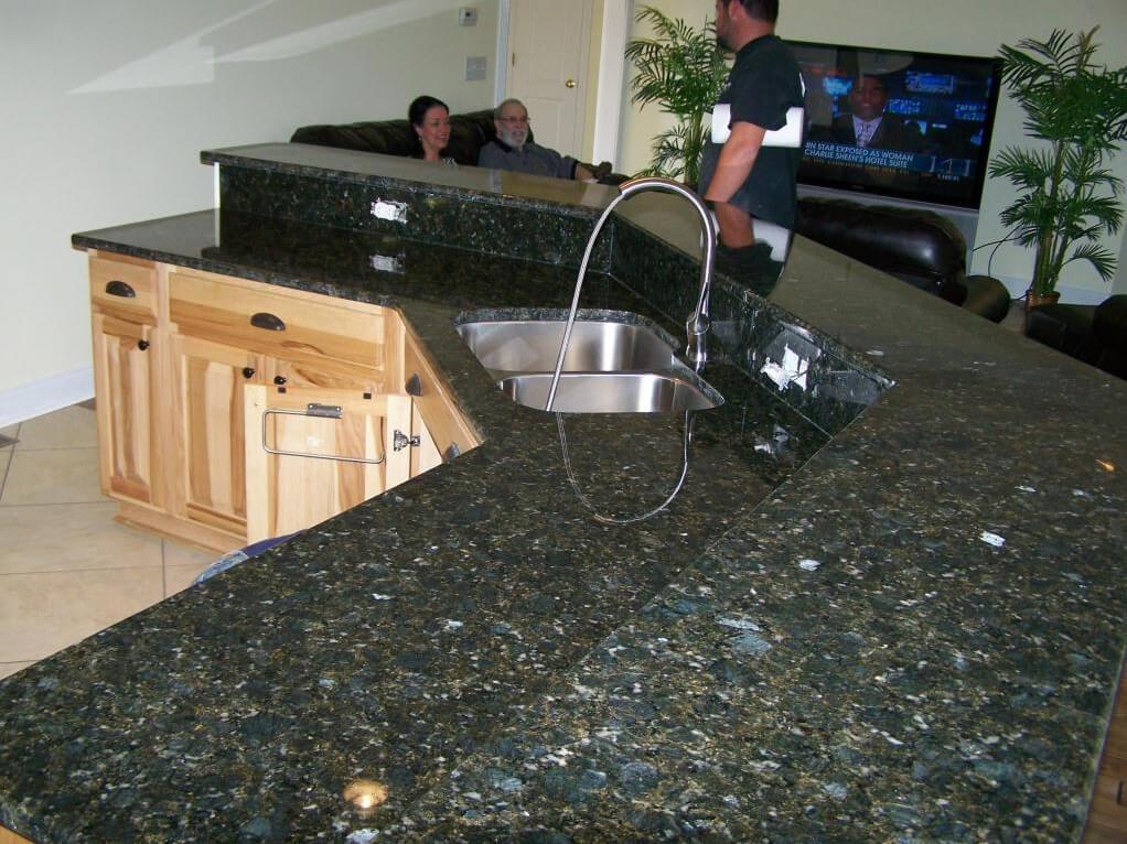 Đá Granite Green Butterfly ốp bếp