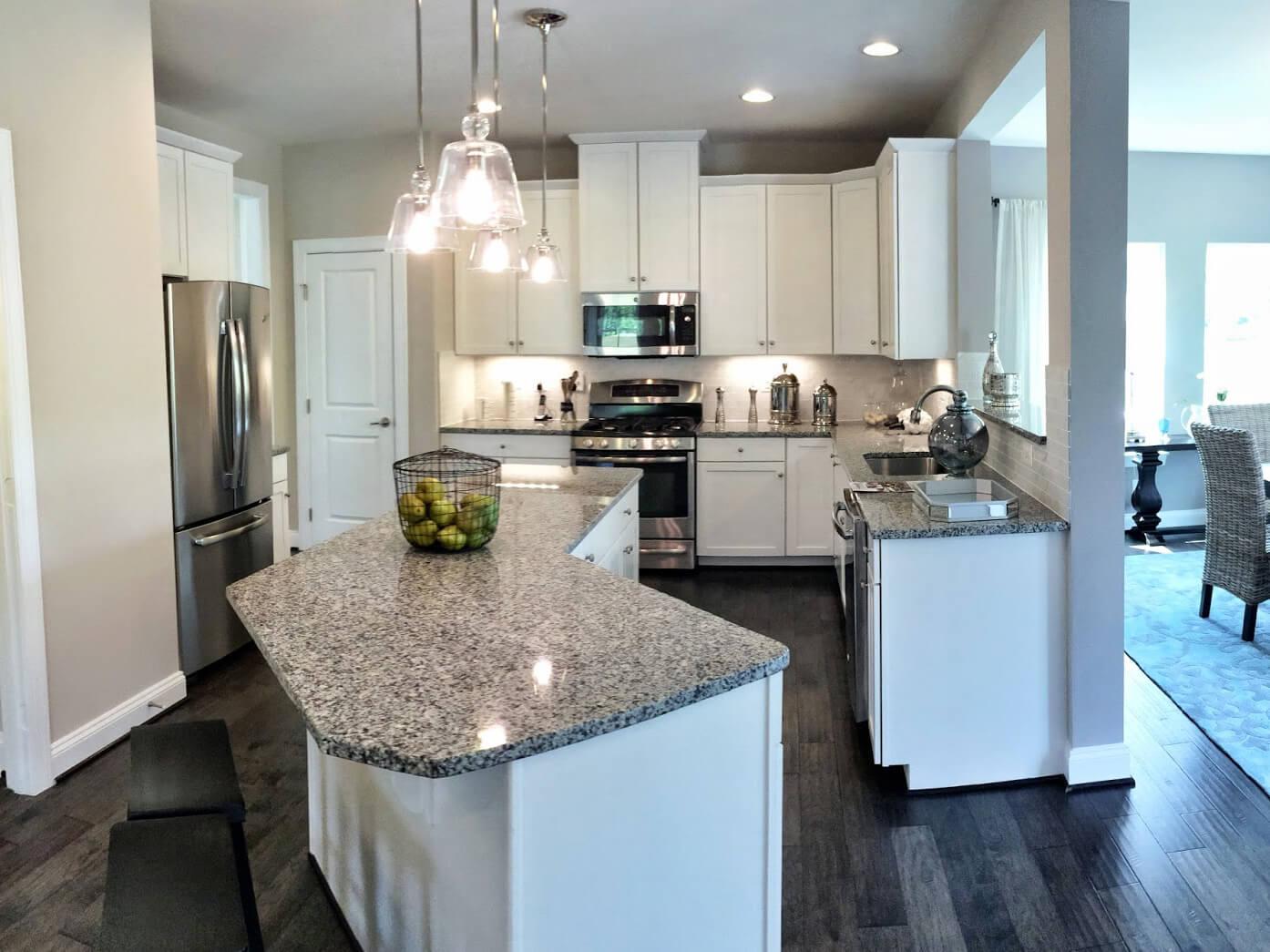 Đá Granite Tự Nhiên White Platinum ốp bếp