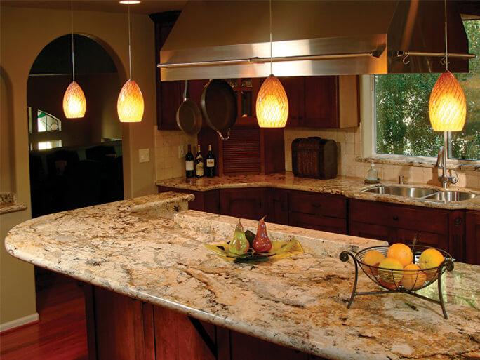 Đá Granite Tự Nhiên Delicatus Gold ốp bếp