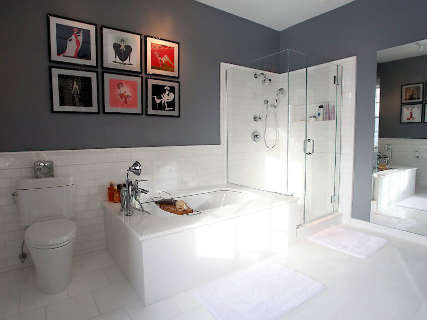Đá Marble (Cẩm Thạch) Thassos White ốp nhà tắm