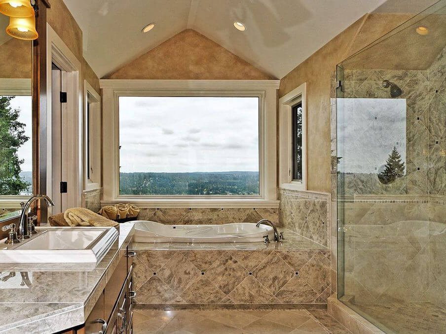 Đá Granite Siena Bordeaux ốp nhà tắm