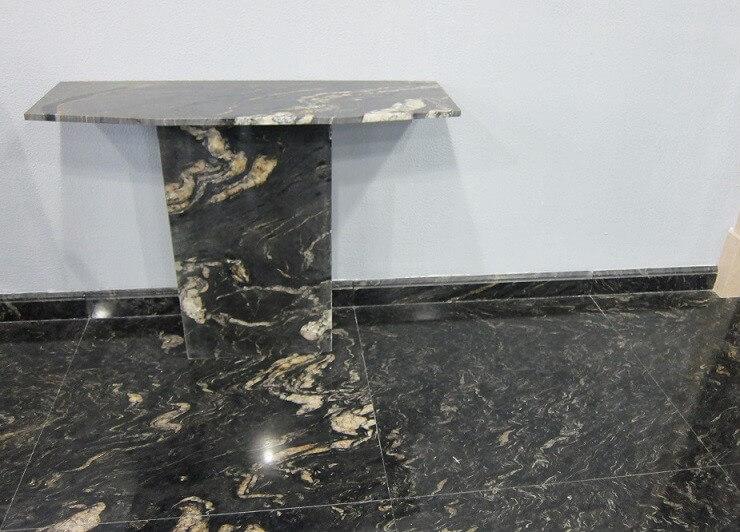 Đá Granite Gucci Black ốp nhà tắm