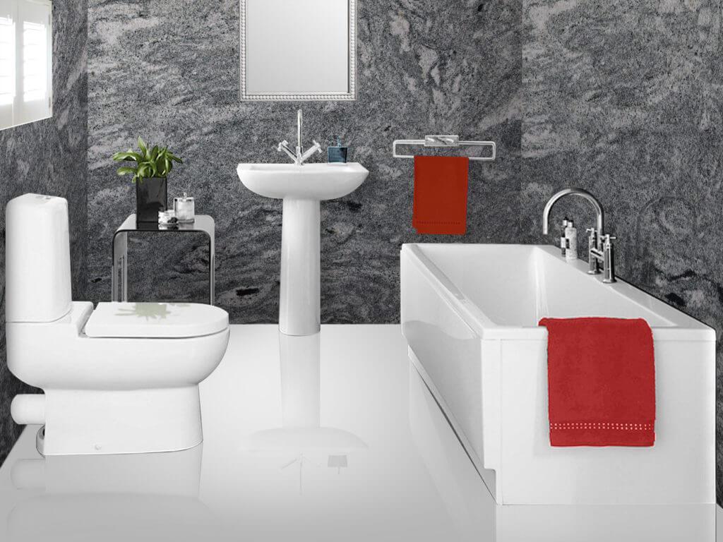 Đá Granite KP Green ốp phòng tắm