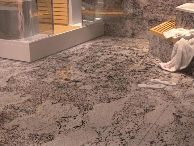 Đá Granite Bianco Antico ốp phòng tắm