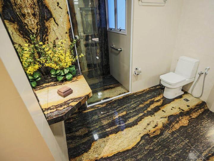 Đá Tự Nhiên Granite Purple Dunes ốp phòng tắm