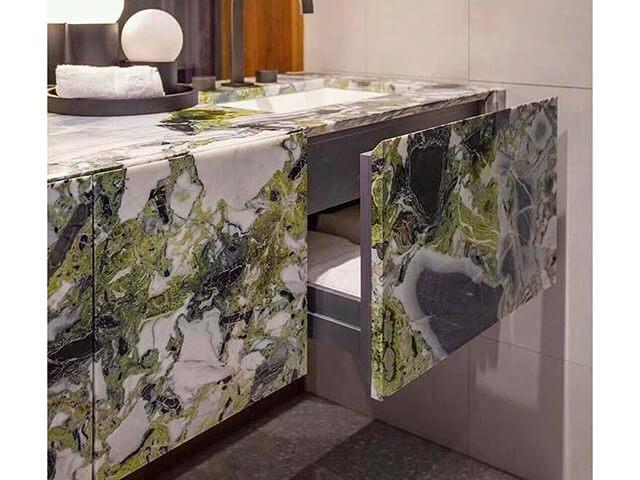 Đá Marble (Cẩm Thạch) Ice Green ốp phòng tắm
