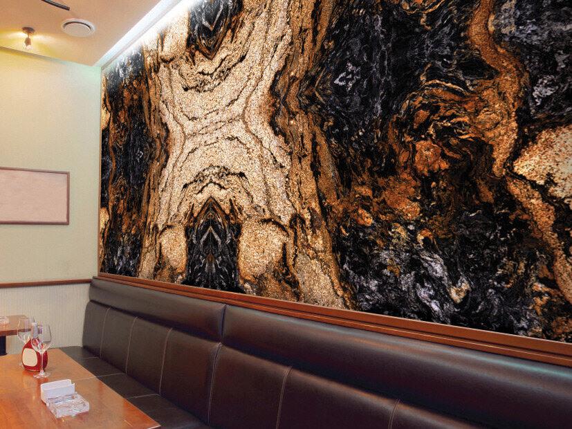 Đá Granite Magma Gold ốp tường