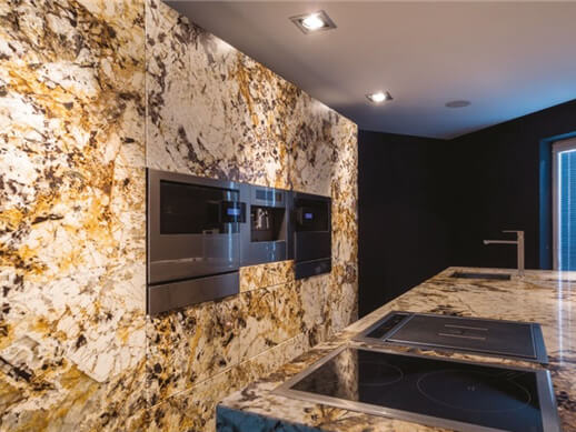 Đá Granite Tự Nhiên Delicatus Gold ốp tường