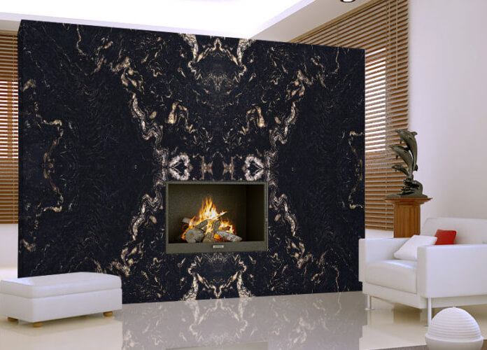 Đá Granite Gucci Black ốp tường
