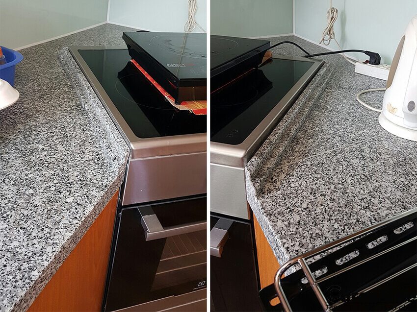 Đá Granite Trắng Bình Định ốp bếp
