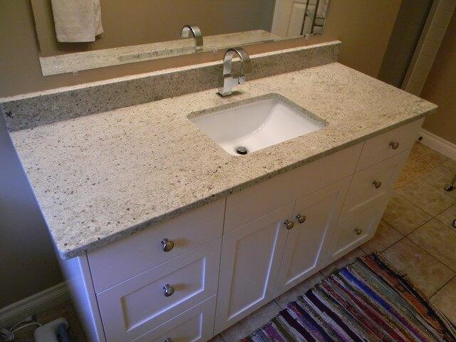 Bàn lavabo Đá Granite Trắng Ấn Độ Kashmir
