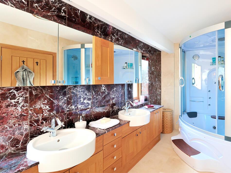 Đá Marble Rosso Levanto New ốp phòng tắm