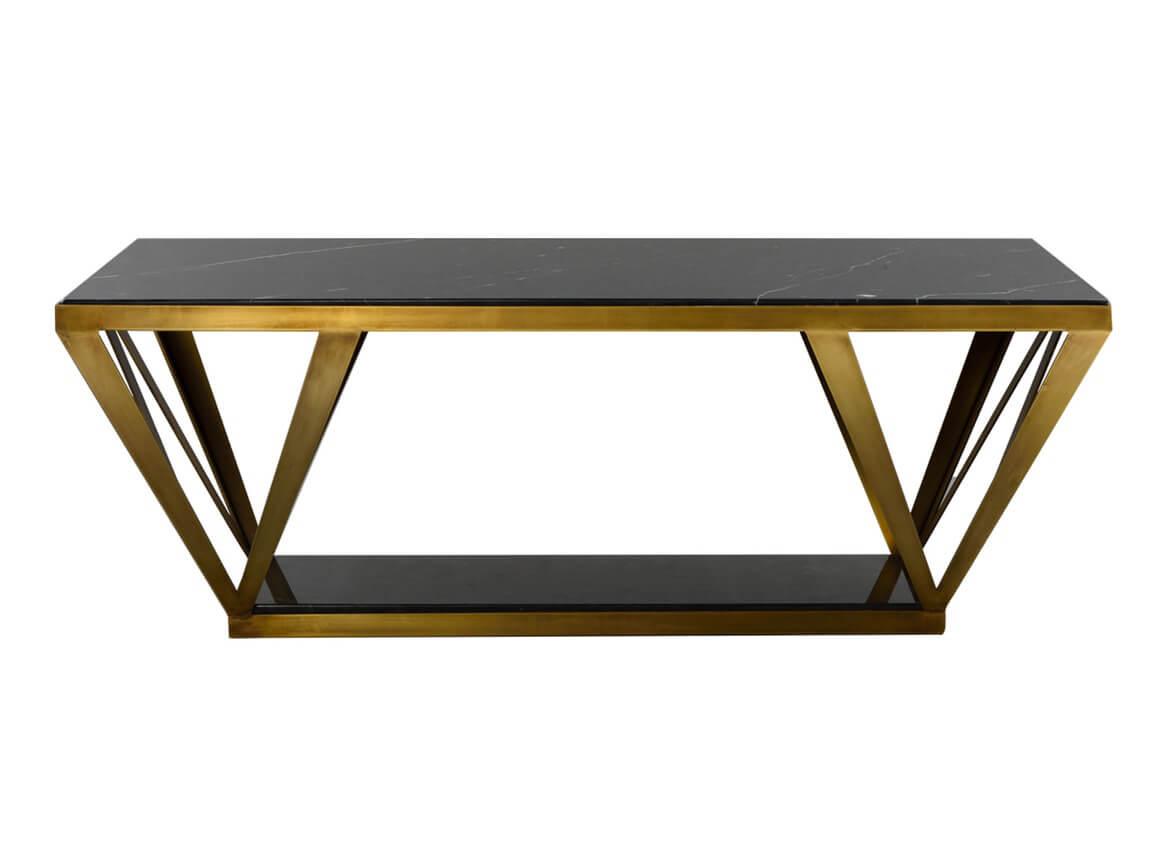 Bàn sofa chân inox mạ màu gold 0017