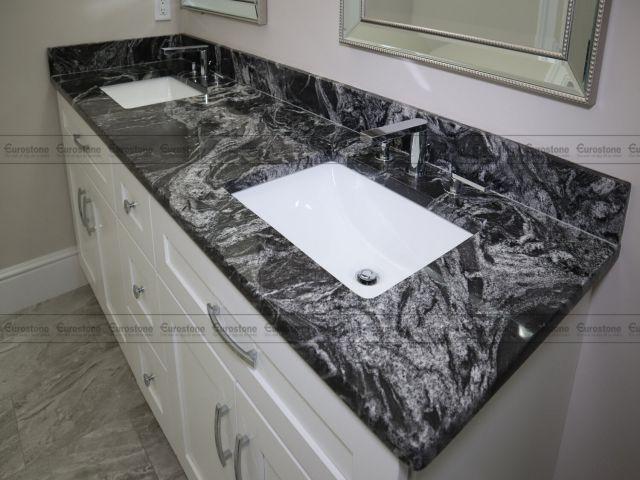 Bàn lavabo Đá Granite Black Forest