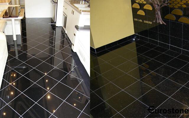 Đá Granite(Kim Sa Trung) Black Galaxy lát nền