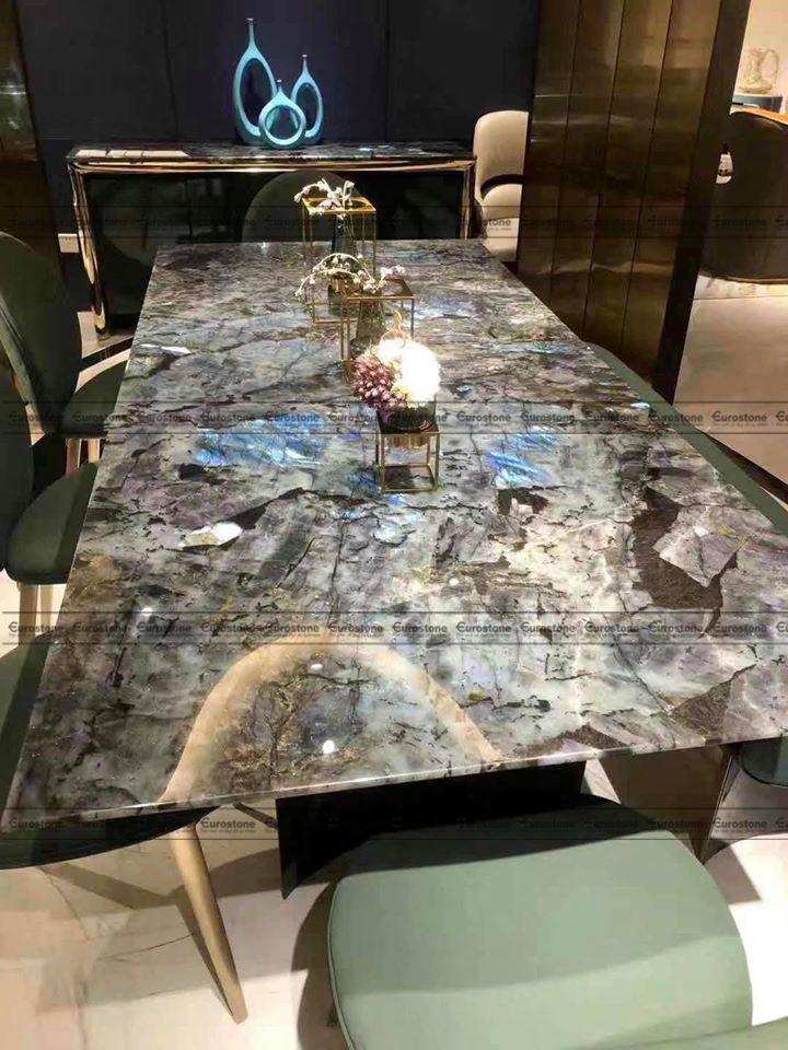 mặt bàn Đá tự nhiên Granite Blue Jade