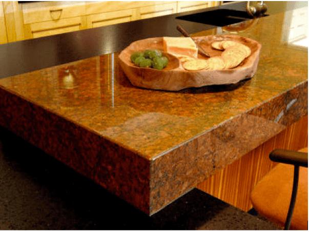 bàn ăn mặt Đá Granite Đỏ Phần Lan