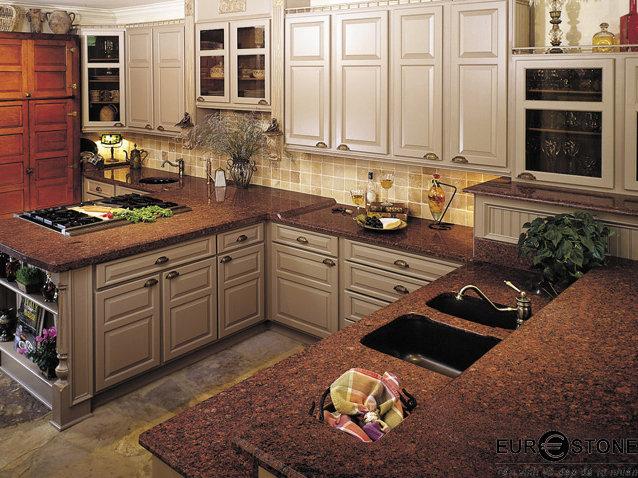 Đá Granite Đỏ Ruby Ấn Độ ốp bếp