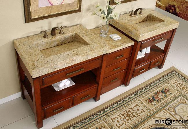 bàn lavabo Đá Tự Nhiên Granite Kashmir Gold