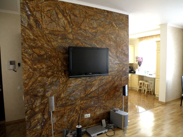Đá Marble Rainforest Golden Ấn Độ ốp tường