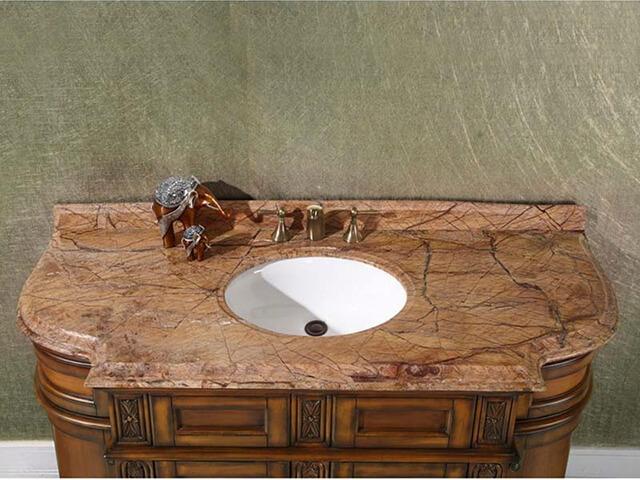 Đá Marble Rainforest Brown ốp nhà vệ sinh